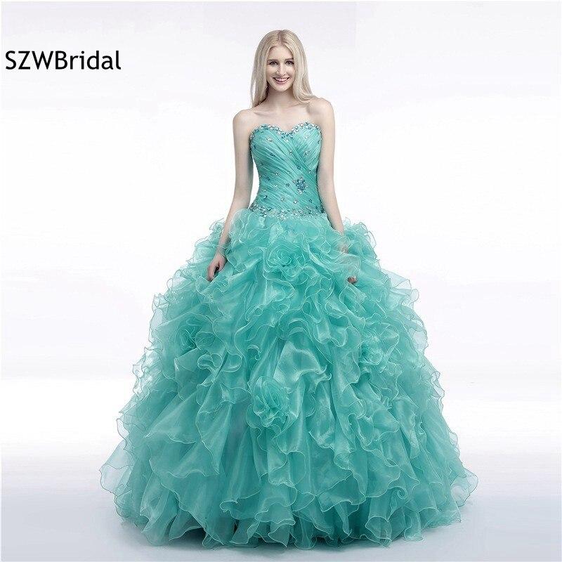 Fashion Organza Royal Blue Ball gown   Evening     dresses   2019 vestidos de festa Formal   dress     Evening   party Vestido de festa