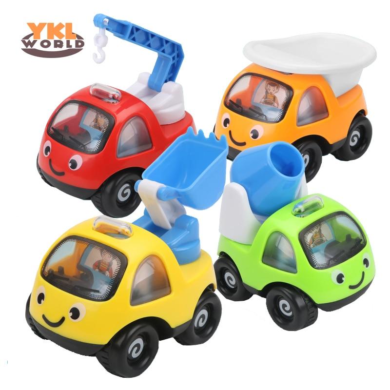 4 Teile/los Große Cartoon Pull Zurück Auto Weiche Baby Spielzeug Anti-herbst Fallen Pull-back-fahrzeug Kinder Spielzeug Für Kinder 9,5*7*8 Cm (s0