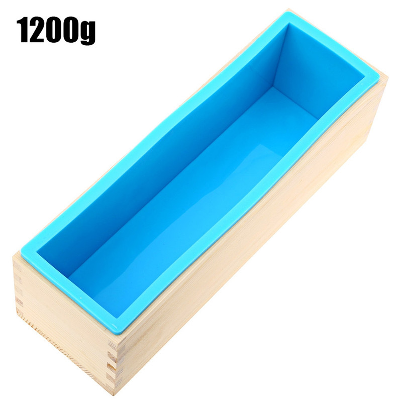 1200g Soap Mold Loaf Silicone Wooden 3d Moule Savon For Soap Making Long Wood Box Bread Mould Handmade Craft Moldes Para Jabon