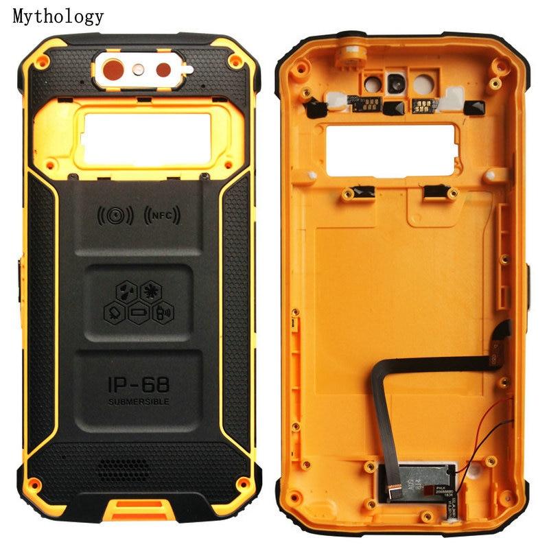 Back Cover For Blackview BV9500 Speaker Case Screws Fingerprint Button Microphone FPC Mobile Phone Back Housing