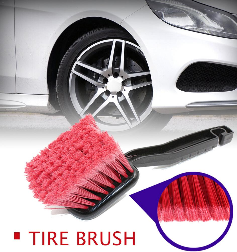 1PC Universal Car Wheel Brush Tire Rim Cleaner Soft Bristle Rim Detailing Brush Cleaning Carpet Brush