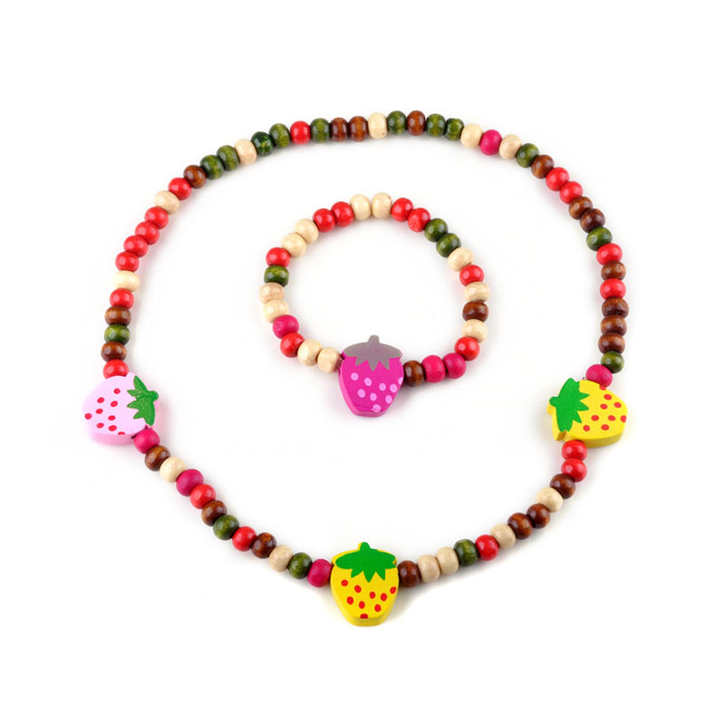 lovely handmade children s jewelry sets wood flower