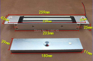 Image 2 - 280kg 620Lbs 12V Conceal Mounted Invisible installation for Single Door Magnetic Lock/Concealed Shear Magnetic Lock door
