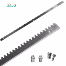 sliding gate motor gate galvanized steel gear rail rack 1m per pc galvanized steel gear rail rack for sliding gate opener one meter per unit with three mounting bolts gate zipper