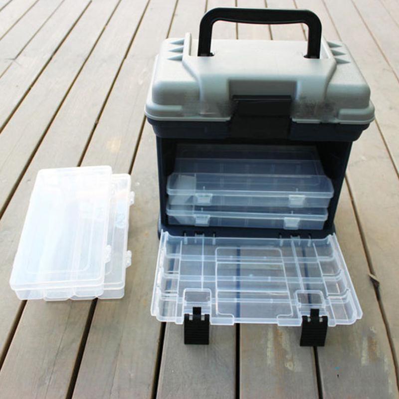 27*17*26cm Portable Plastic Outdoor 5 Layer Big Fishing Tackle Tool Storage Box Case with Handle  от Aliexpress INT