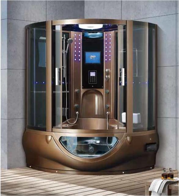 1500X1500X2250mm Luxury Steam Shower Enclosure Mult-Functional TV/DVD Computer Control Wet Sauna Room 7030