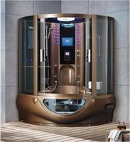 1500X1500X2250mm Luxury Steam Shower Enclosure Mult Functional TV/DVD Computer Control Wet Sauna Room 7030