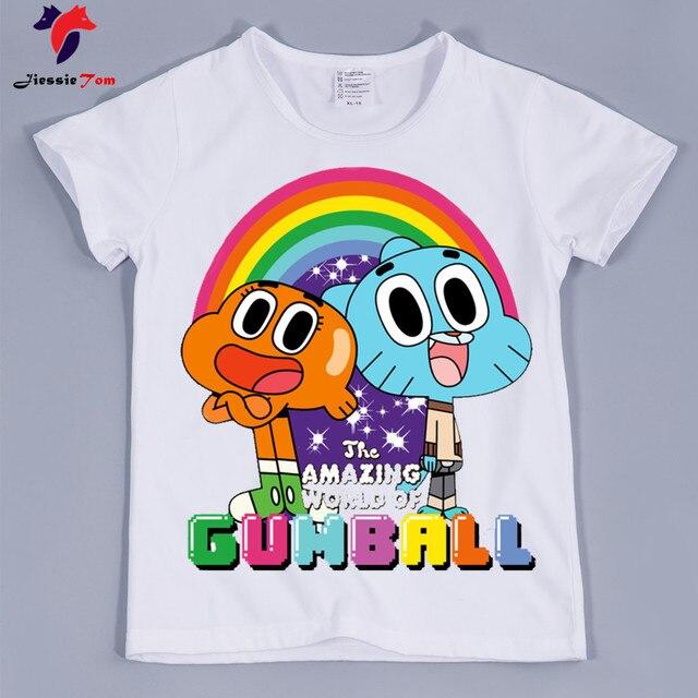 d7312a14 Kid's Darwin Watterson Cartoon Funny T-shirts Boy and Girl Cartoon Anais  Watterson Tee Shirt Children Darwin Watterson Top