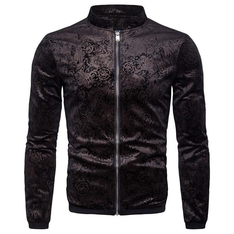 Fit Uniforme Automne De Vêtements 2018 Manteau Hommes Manteaux Imprimé Mode New Veste Col Baseball Vestes Coupe Printemps Montant vent 3Rqj4Ac5L
