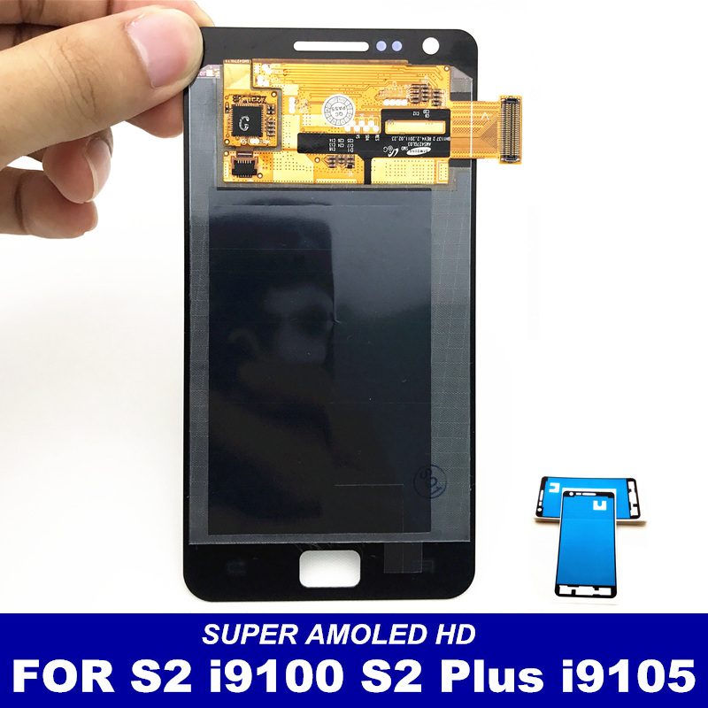 imágenes para 100% Probado LCD AMOLED para Samsung Galaxy S2 i9100 S2 Plus i9105 LCD Display de Pantalla Táctil Digitalizador Reemplazo del Conjunto Completo