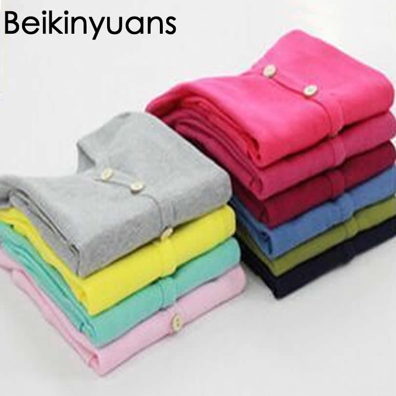 Children's Cotton Cardigan Girls Jacket Sweater Fashion Kids Coat Boy Sweaters Candy-colored Toddler Single-breasted Outer Wear
