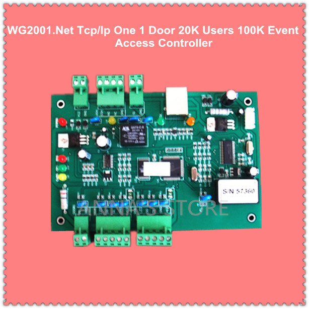 WG2001.NET TCP/IP Single 1 Door Access Controller 20K Users 100K Events MEM Fire Protection &Alarm