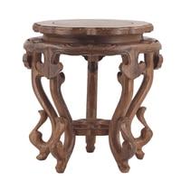 Mahogany flower rack circular ornaments, bonsai odd stone fish bowl vase handicraft solid wood bracket wooden base