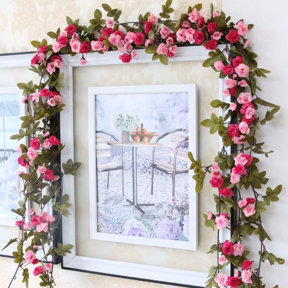 Hot Sale 230cm 91in Silk Rose Wedding Decorations Ivy Vine