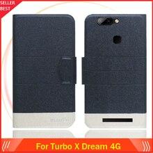 5 цветов Лидер продаж! Turbo X Dream 4G чехол на заказ ультратонкий кожаный эксклюзивный чехол-книжка с отделениями для карт