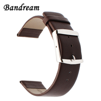 Super Thin Genuine Leather Watchband 18mm For LG Watch Style Asus ZenWatch 2 Women WI502Q Stainless