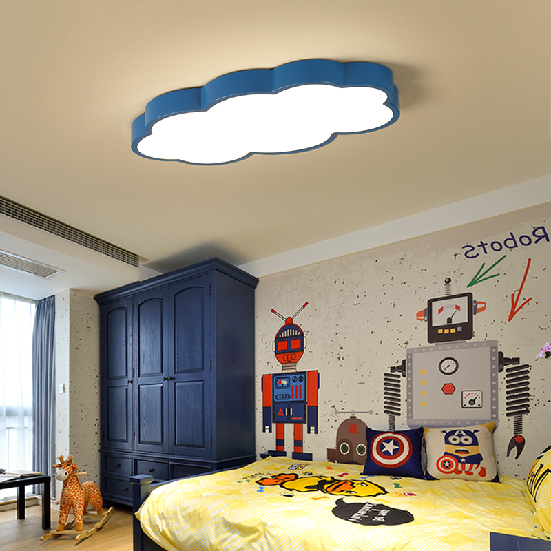 Image 2 - White/Pink/Blue Cloud LED Ceiling Lights For Childrens Room Kids Room Home Deco Ceiling Lamp Boy Girl Room Lighting Fixtures-in Ceiling Lights from Lights & Lighting