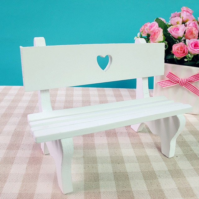 Shipping Furniture Model Rural Wind Miniature Park Bench Model Children's Toys Free .