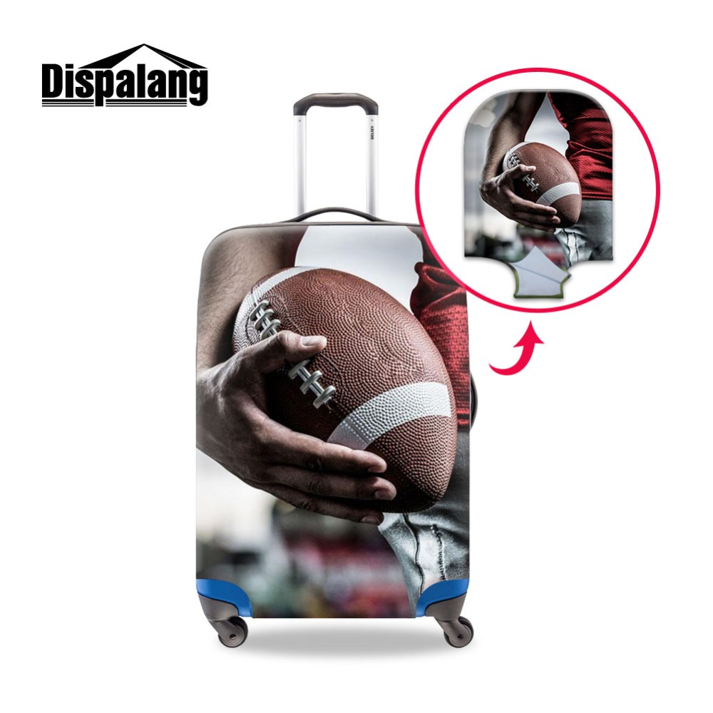 Dispalang Baggage Protective Cover For 18 24 30 Inch Trolley Suitcase Printed Ball Colorful Men Dust Travel Accessories Supplies