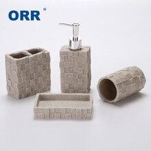 цены New Bathroom four set sanitary supplies ware Cups toothbrush holder soap dispenser copo Articulos sanitarios ORR