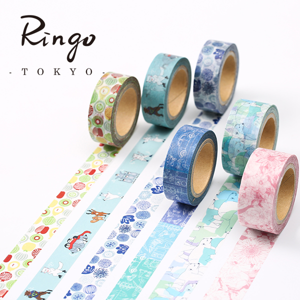 Japan round top MiriKulo:rer Series 2016 Japanese Paper Tape 5PCS