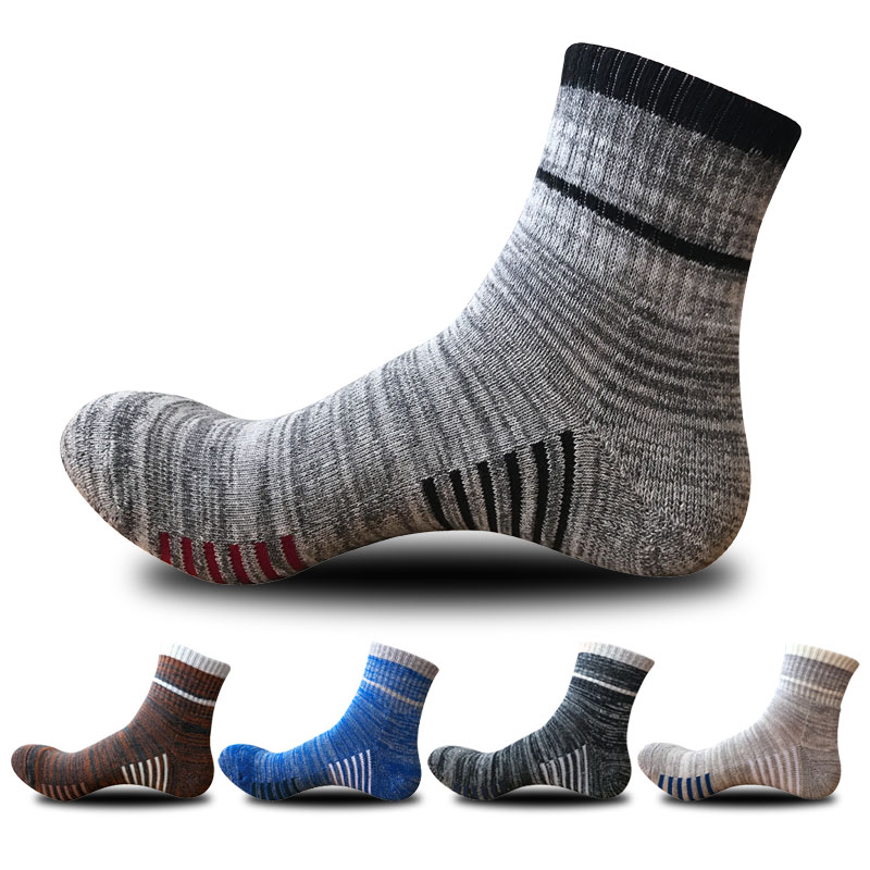 BENDU Men Cotton Mountaineering Hiking Thick Warm Socks Anti-Bacterial Deodorant Breathable Man Outdoors Sock 5 Pairs / Lot
