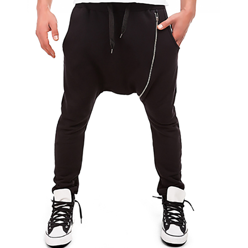 Harem Pants Trousers Clothing Joggers Loose Casual Male Autumn Spring Long Zipper-Design