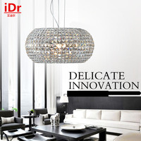 Modern Creative Personality Round Pumpkin Crystal Lamp Living Room Restaurant Study Bedroom Ceiling Lights Free Delivery