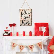 лучшая цена Letter Love Signs Board Each Moment Wooden ​Wall Hanging Board Plaques Signs Home Decor