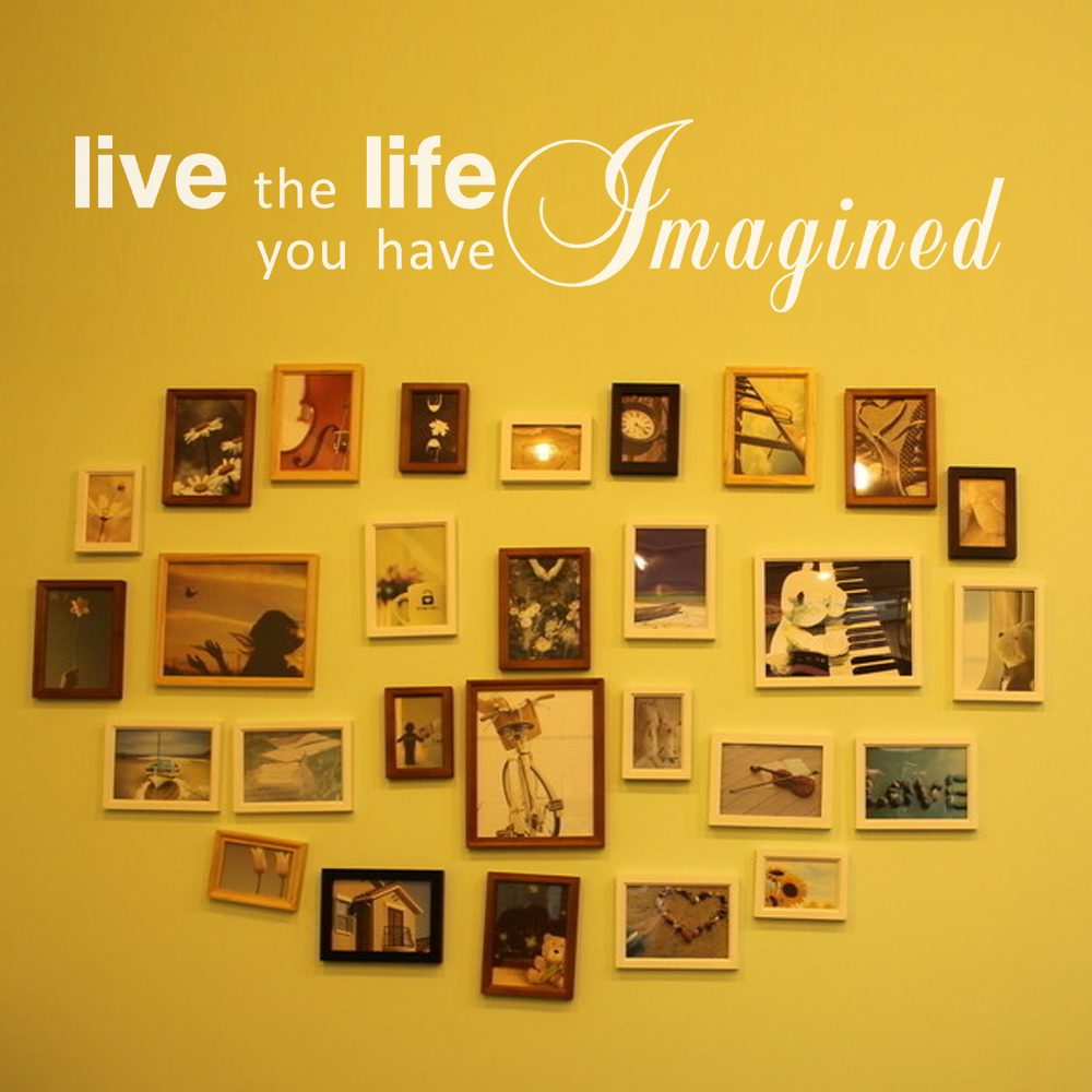Live The Life You Have Imagined Life Inspirational Quote Home Wall ...