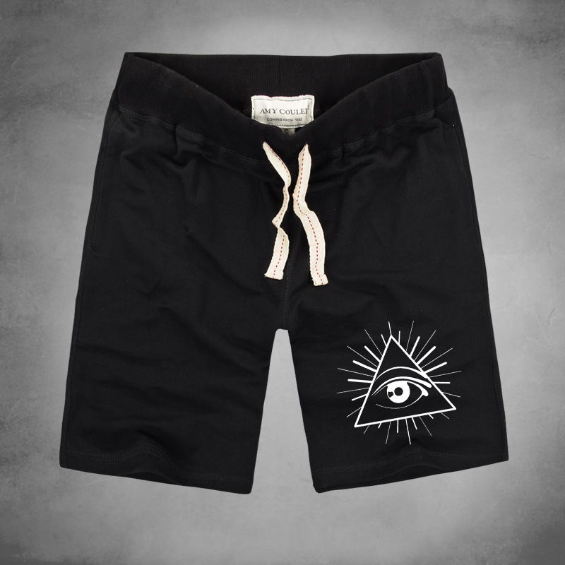 Brand Mens Shorts Pyrex Shorts For Men Loose Harajuku Slim Shorts triangle eyes printed Hot Hip-hop Street Drop Ship plus size