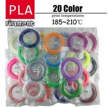 Caneta 3d filamento PLA 1.75mm 20 Cores 30 Cores Da Impressora 3D Materiais de filamento Para 3D Caneta Impressão 10 Cores Material de Impressora 3D