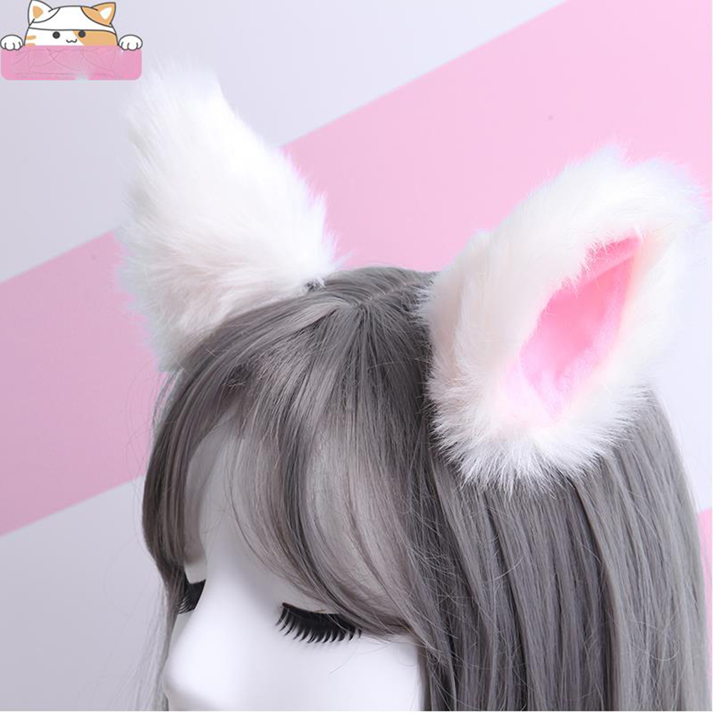 1 Pair Cat Fox Ears Hairpins Women Girls Fashion Plush Headclips Lovely Gift Cosplay Anime Dance Hair Accessories 13 Colors 2019