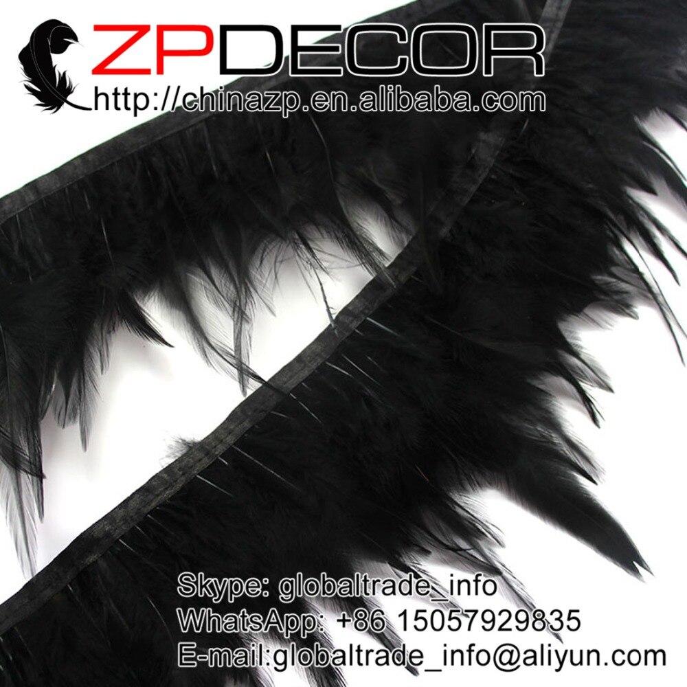 Black Rooster Saddle Strung Feathers    US Seller