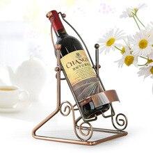 Retro Wine Rack Suspension Wine Stand Novelty Iron Rack Bottle Holder Stand Bar Wedding Decoration