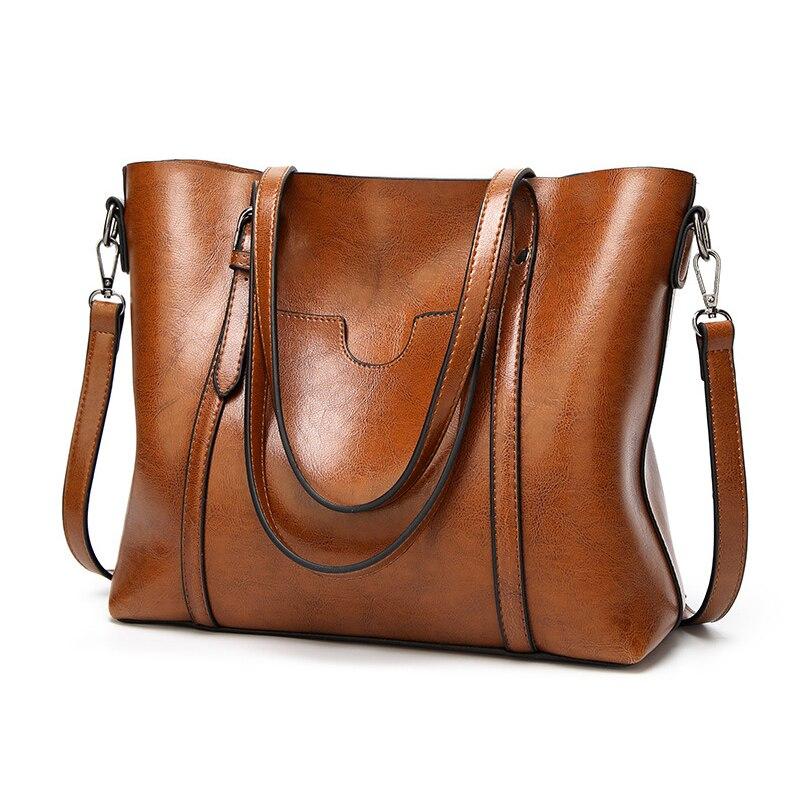 Tophandtag Väskor för kvinnor 2018 Vintage Stor Storlek Stor - Handväskor - Foto 2