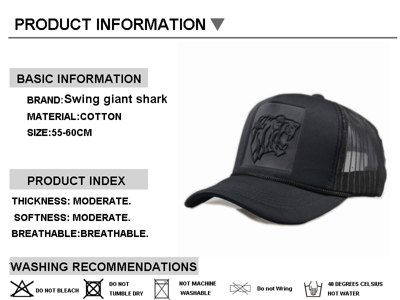 Swing giant shark  Hip Hop Black leopard Curved Baseball Caps Summer ... 8ec35b94ef45