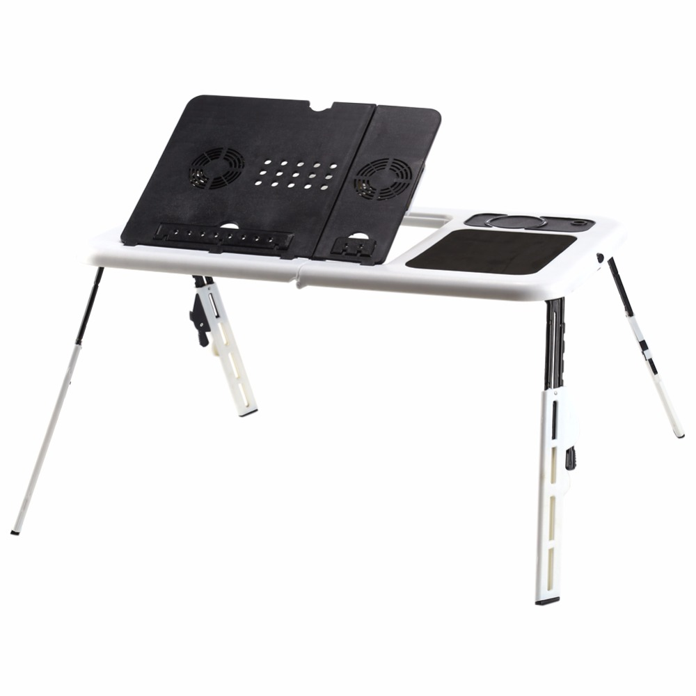 Nice Computer Standing Table Portable Laptop Desk Adjustable Computer Table Bed  Sofa Stand Tray USB Cool Fans
