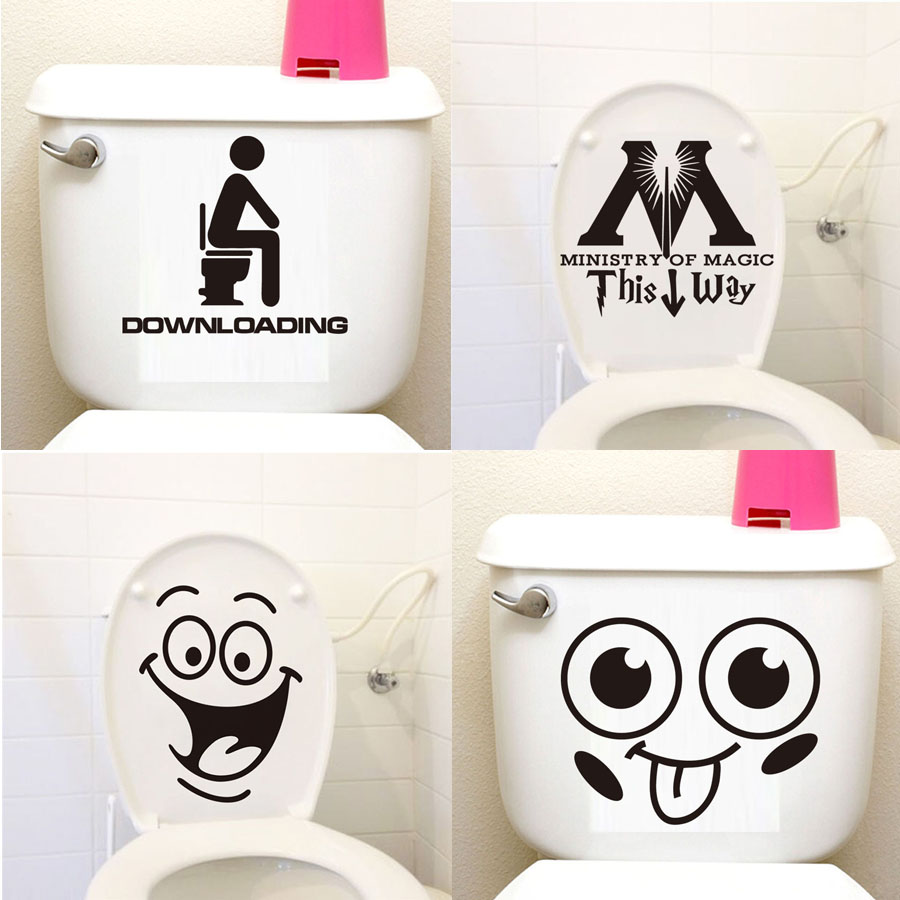 Home Decorat: DCTOP 24 Styles Big Mouth Toilet Stickers Funny DIY Vinyl