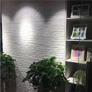 Image 2 - 70*77*0.8 3D duvar çıkartmaları su geçirmez köpük dekorasyon kabartmalı yatak odası oturma odası DIY yapışkanlı ev çıkartmaları PE taş paneller