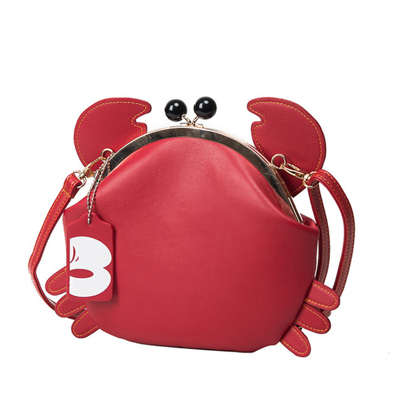 Cute Gift Girls Crab Bag Unique Design Ladies Chains Animal Messenger Bag Women Messenger Bag Crossbody Shoulder Bag Sac A Main цена