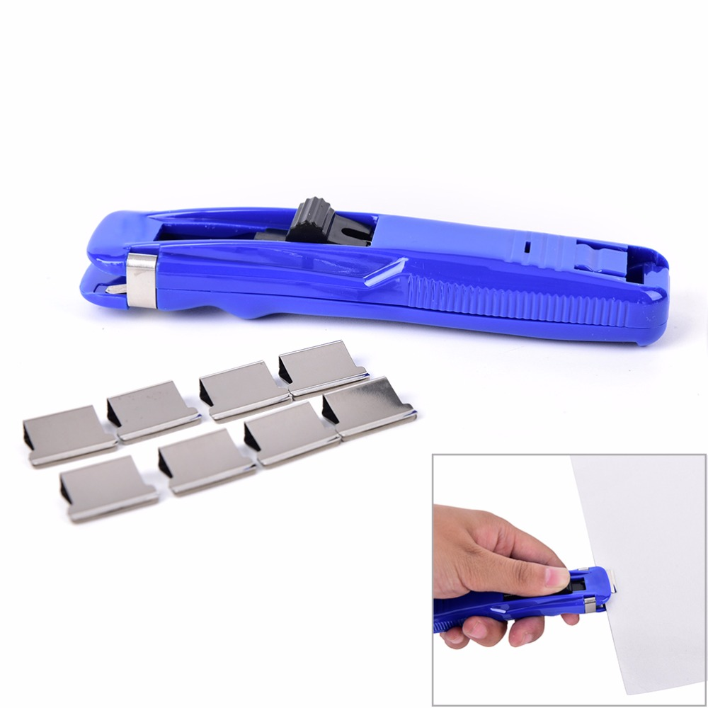 8Pcs Refills With A Clip Mini Metal Paper Clips Pegs Stationery Office Learning Supplies