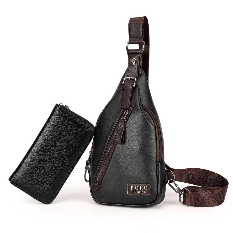 Ny Ankomst Högkvalitativ PU Läder Män Väska Män Bröstpaket - Väskor för bagage och resor - Foto 3