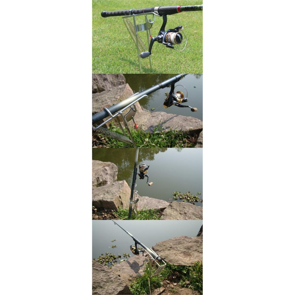 3 Pcs of (Stainless Steel Fishing Rod Holder Support for Adjustable Bracket)