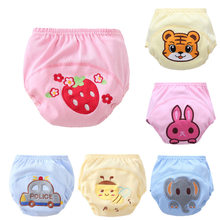 Baby Waterproof Reusable cotton Diapers/Children Cloth Diaper/Reusable Nappies/Training Pants/Diaper Cover Washable RE821(China)