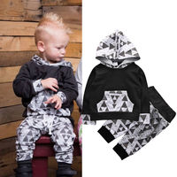 Newborn Toddler Kids Baby Boys Outfits Clothes Hoodies T-shirt Tops+Pants Set Fashion Autumn Fall Baby Sets Comfortable