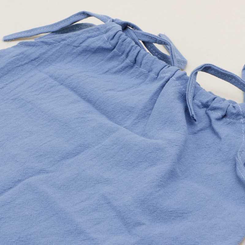최신 여름 아기 소녀 코튼 스트랩 탑 민소매 t 셔츠 신생아 어깨 넥타이 탑 MAY14-A