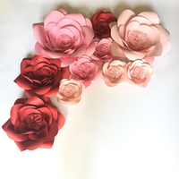10 PCS Set Giant Paper Flowers For Baby Room Wall Decor Wedding Backdrops Decorations Shop Windows Display