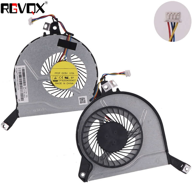 Купить с кэшбэком New Laptop Cooling Fan for HP Pavilion 15-P series Original P/N EG50060S1-C120-S9A DFS200405040T CPU Cooler Radiator