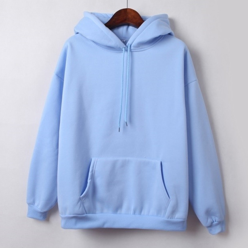 Hooded Tops Women's Sweatshirt Long-Sleeved Winter Velvet Thickening Coat 12